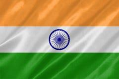 Nationsflaggan av Indien royaltyfri illustrationer