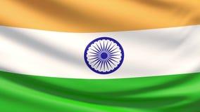 Nationsflaggan av Indien stock illustrationer