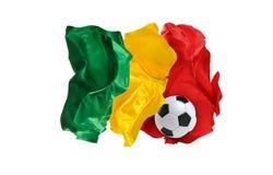 Nationsflaggan av Senegal FIFA världscup Ryssland 2018 Royaltyfria Bilder
