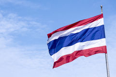 Nationsflaggan av Thailand Royaltyfria Bilder