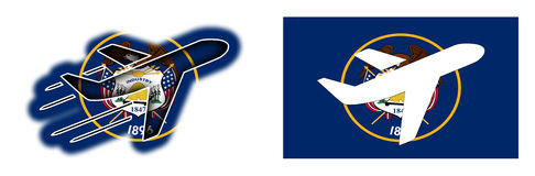 Nationsflagge - Flugzeug lokalisiert - Utah Lizenzfreie Stockfotos