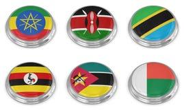 Nationsflaggen-Ikonenset Lizenzfreies Stockbild
