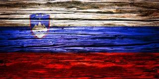 Nationsflaggor träbakgrund, textur Royaltyfria Bilder