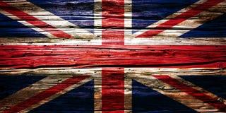 Nationsflaggor träbakgrund, textur Royaltyfri Fotografi