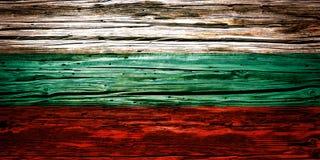 Nationsflaggor träbakgrund, textur Arkivfoto