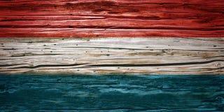 Nationsflaggor träbakgrund, textur Arkivbild