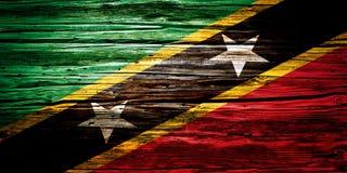 Nationsflaggor träbakgrund, textur Fotografering för Bildbyråer