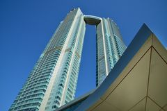 Nationtorn, Abu Dhabi Royaltyfri Foto