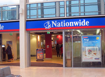 The Nationwide building society. The front view of a branch of the Nationwide building society. Nationwide Building Society is a British mutual financial Stock Image