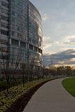 Nationwide Children's Hospital. The leading Children's Hospital in Columbus, Ohio, with newly landscaped grounds at sunset Royalty Free Stock Photography