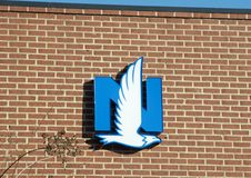 Nationwide Insurance Sign. A sign on a  Nationwide Insurance business building Royalty Free Stock Photos