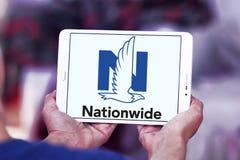 Nationwide Mutual Insurance Company logo. Logo of Nationwide Mutual Insurance Company on samsung tablet . Nationwide Mutual Insurance Company and affiliated Stock Photo