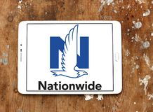Nationwide Mutual Insurance Company logo. Logo of Nationwide Mutual Insurance Company on samsung tablet on wooden background. Nationwide Mutual Insurance Company Royalty Free Stock Photo