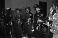 Police in Riot Gear Stock Images