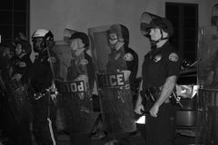 Police in Riot Gear Stock Photos