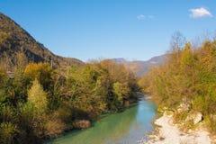 Natisone flod fotografering för bildbyråer