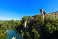 Natisone River in Cividale del Friuli - Italy Stock Image