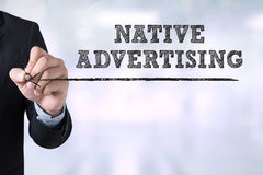 NATIVE ADVERTISING royalty free stock photos