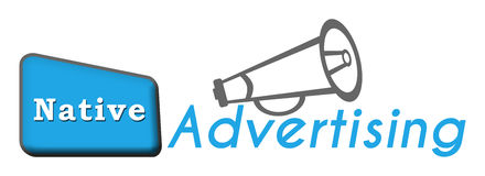 Native Advertising Stock Image
