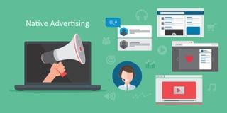 Native advertsing concept vector illustration
