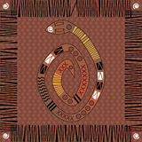 Native African Design. Background native african style design with snake Royalty Free Stock Photos