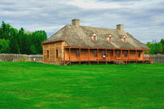 An native amercian house. An Indian house built in 19th century Stock Image