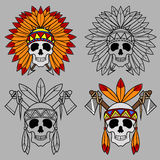 Native America Skull Mascot Royalty Free Stock Images