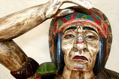 Native American. A statue of a Native American Indian Royalty Free Stock Photo