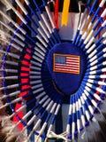 Native American. Regalia with American flag royalty free stock photos