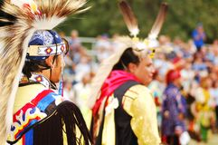 Native American 3. Trail of Tears Park Pow Wow- Native American Men wearing traditional clothing Stock Image