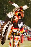 Native American. Trail of Tears Park Pow Wow- a Native American Man wearing traditional clothing royalty free stock images