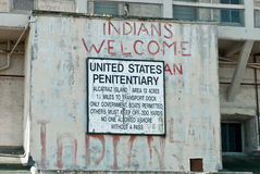 Native American Alcatraz Occupation sign Royalty Free Stock Photography