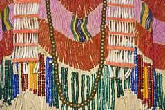 Native American Apparel. With intricate bead work Royalty Free Stock Photo