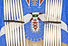 Native American Apparel. With intricate bead work stock image