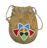 Native American Beaded Bag Isolated Stock Images