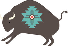 Native American Bison Stock Photo