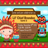 The Native American Boy Invitation Royalty Free Stock Image
