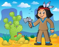 Native American boy theme image 2. Eps10 vector illustration Royalty Free Stock Photos
