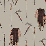 Native American. Can be used as a textile pattern Stock Photos