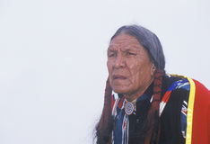 A Native American Cherokee elder at an Intertribal Powwow, Ojai, CA Royalty Free Stock Photo