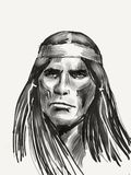 Native american chief Royalty Free Stock Image