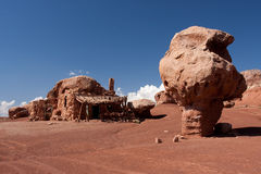 Native American cliff dwellings and Balanced Rock Stock Photos