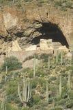 Native American cliff dwellings, circa 1400 AD, Tonto National Monument, Roosevelt Lake, AZ Stock Photos