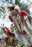 Native American dance. Native American performing the smoke dance at Kahnawake POW WOW Stock Image