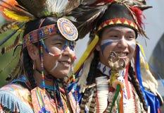 Native American Dancer Portraits Stock Photo
