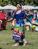 Native American Dancer at a Pow-Wow. A pow- wow is where Native Americans gather and celebrate their culture with dancing and music royalty free stock photography