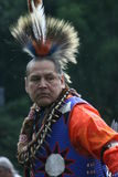 Native American Dancer. Taken during a local pow wow in Dowagiac Michigan .It was held during labor day weekend clelbrating the final harvest.Put on by the local Stock Photography