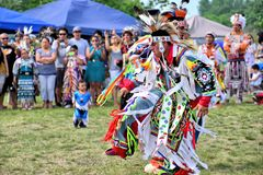 Native American dancers Royalty Free Stock Photography