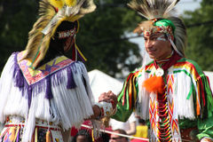 Native American Dancers at pow-wow Stock Image