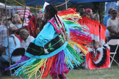 Native American Dancers at pow-wow. Glen Oaks, NY, USA - July 26, 2014: Native American Dancers at annual pow-wow at Queens County Farm Museum Stock Photos